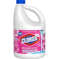 (2 Pack) Clorox Splash-Less Liquid Bleach, Fresh Meadow Scent, 116 oz. Bottle