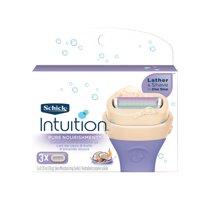 Schick Intuition Pure Nourishment Women's Razor Blade Refills, 3 Ct