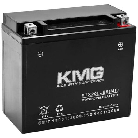 KMG Yamaha 660 YFM66FA Grizzly 2002-2008 YTX20L-BS Sealed Maintenace Free Battery High Performance 12V SMF OEM Replacement Maintenance Free Powersport Motorcycle ATV Scooter Snowmobile