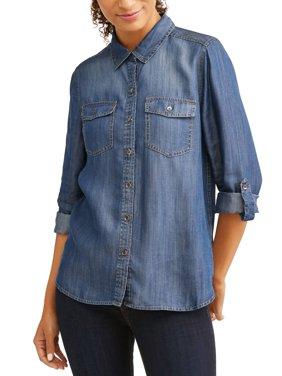 Woven Denim Shirt Women's
