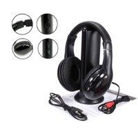 Hot 5 in 1 Hi-Fi Wireless Headset Headphone Earphone for TV DVD MP3 PC