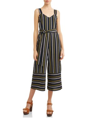 Women's Stripe Wide Leg Jumpsuit