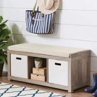Better Homes and Gardens 3-Cube Organizer Storage Bench, Multiple Finishes