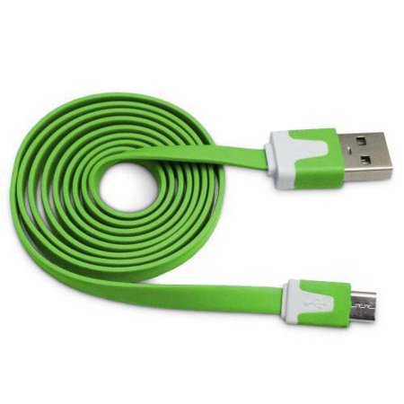 Importer520 Green 0.9m 3 Ft (Extra Long) Micro USB Data Sync Charger Cable forLG Optimus Vu VS950(Verizon)
