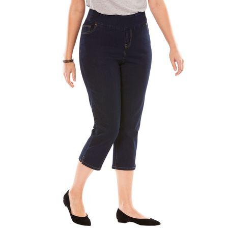 Woman Within Plus Size Smooth Waist Capri Jean