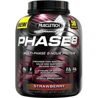 Muscletech Phase 8 Protein Powder, Strawberry, 26g Protein, 4.4 Lb