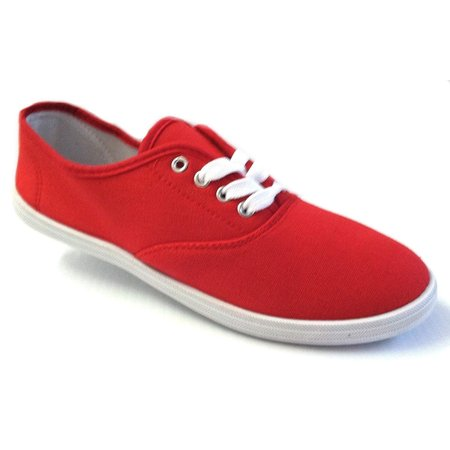 - Shoes 18 Womens Canvas Shoes Lace up Sneakers 18 Colors Available (7.5 B(M) US, Red 324)