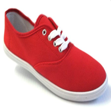 Shoes 18 Womens Canvas Shoes Lace up Sneakers 18 Colors Available (7.5 B(M) US, Red 324) - Spiderman Light Up Sneakers
