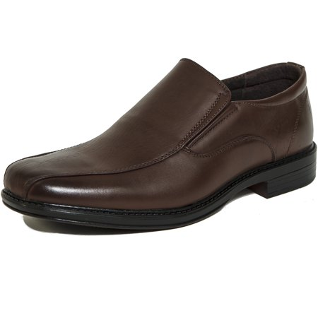 alpine swiss men's dress shoes leather lined slip on loafers good for suit (Black Leather Slip On Shoes For Men)