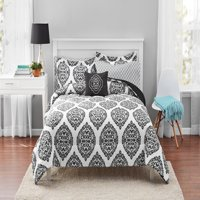 Mainstays Global Damask Bed in a Bag Coordinating Bedding Set