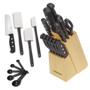 Farberware 22-Piece 'Never Needs Sharpening' Triple-Rivet Knife and Tool Set
