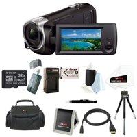 Sony HDR-CX405 Handycam Camcorder + 32GB microSDHC card + 8-Inch Table Tripod + Accessory Bundle