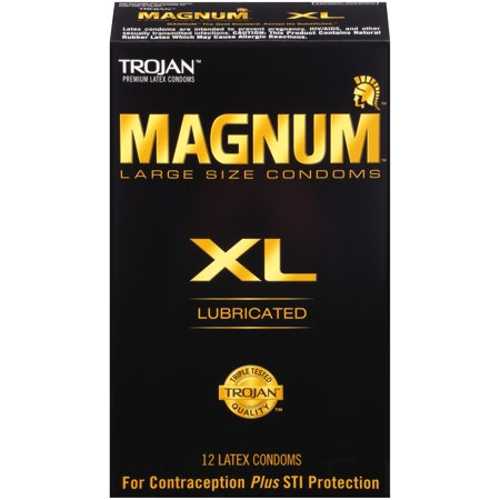 Trojan Magnum XL (Extra Large) Lubricated Condoms, 12 (Best Type Of Condom For Protection)