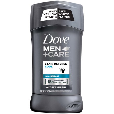 Dove Men+Care Stain Defense Cool Antiperspirant Deodorant Stick, 2.7