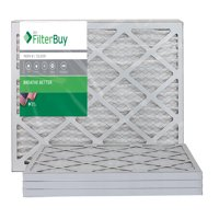 16x25x1 Air Filters. Pleated Merv 8 (AFB Silver) Air, AC, Furnace, HVAC Filter. Box of 4. FilterBuy.