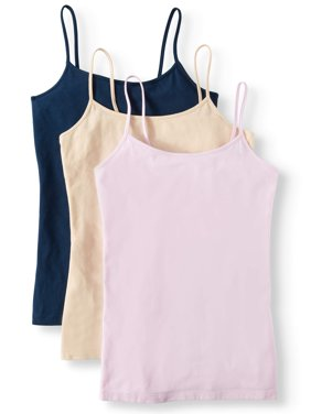 Women's Cami Tank Top, 3 Pack Bundle