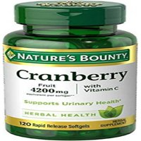 Nature's Bounty Cranberry Herbal Health Rapid Release Softgels, 120 count