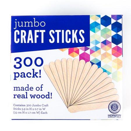 jumbo craft sticks 300pk by horizon group usa walmart com