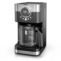 Black & Decker Select-A-Size Easy Dial Programmable Black & Stainless Steel Coffee Maker, 1 Each