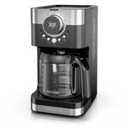 BLACK+DECKER Select-A-Size Easy Dial Programmable Coffee Maker, Stainless Steel/Black, CM4200S