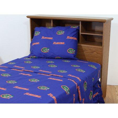 Florida Gators 100 Cotton 4 Piece Sheet Set Flat Ed 2 Pillow Cases King Team Colors