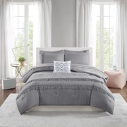 92e53c02f1 Mainstays Solid Fringe Bed in a Bag Comforter Bedding Set. Product Variants  Selector. Blush Gray White