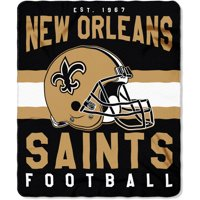 "NFL New Orleans Saints ""Singular"" 50"" x 60"" Fleece Throw"