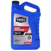 Super Tech High Mileage SAE 5W-30 Motor Oil, 5 Quarts