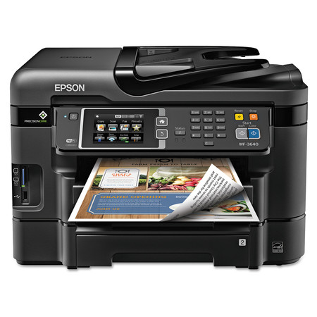Epson WorkForce WF-3640 All-in-One Wireless Color Printer/Copier/Scanner/Fax Machine ()