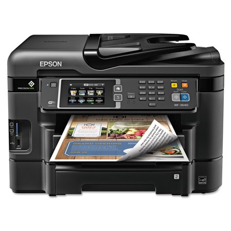 Epson Workforce Wf 3640 All In One Wireless Color Printercopier