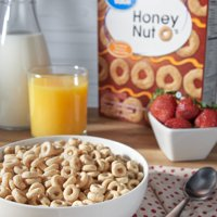(3 Pack) Great Value O's Honey Nut Oat Cereal, 21.6 oz