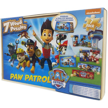 7 Puffles (Nickelodeon Paw Patrol 7 Wood Jigsaw Puzzles in Wood Storage Box )