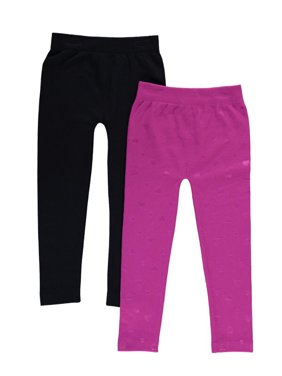 Freestyle Revolution Embossed Brushed Seamless Leggings, 2-Pack (Little Girls and Big Girls)