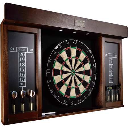 Barrington 40 Inch Dartboard Cabinet With Led Light Walmartcom