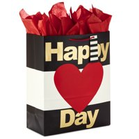 Hallmark Extra Large Valentine's Day Gift Bag with Tissue Paper (Happy Heart Day)