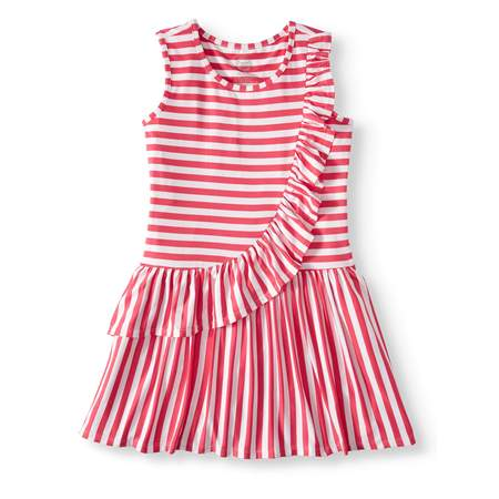 Asymmetric Ruffle Dress - Red Dresses For Girls 7-16