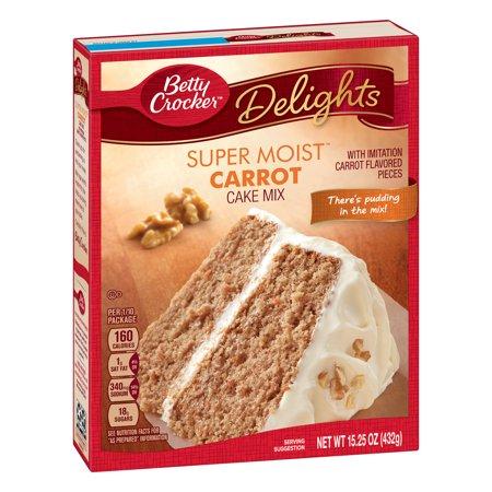 Carrot Cake Muffin - (3 Pack) Betty Crocker Super Moist Carrot Cake Mix, 15.25 oz