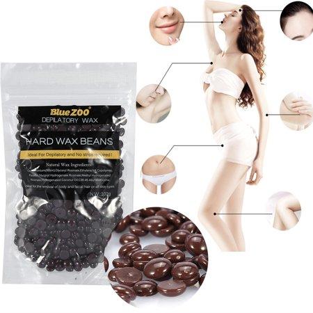 Yosoo Professional Hard Wax, Chocolate Flavor Stripless Depilatory Waxing Pellets Solid Film Beans No Strip Needed, Painless Gentle Hair Removal of Full Body, Face & Bikini Line
