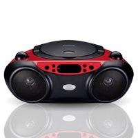 Blackweb Bluetooth CD Player with FM Radio, Red and Black