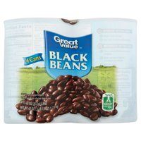 (8 Cans) Great Value Black Beans, 15.25 Oz