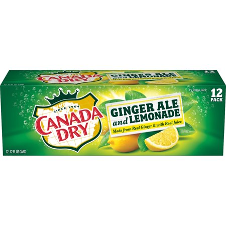 (2 Pack) Canada Dry Ginger Ale and Lemonade, 12 Fl Oz Cans, 12 Ct (German Ale)