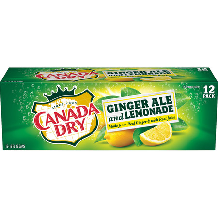 (2 Pack) Canada Dry Ginger Ale and Lemonade, 12 Fl Oz Cans, 12 -