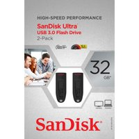 SanDisk Cruzer Ultra 32GB USB 3.0 Flash USB Drive (2 Pack)