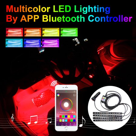 Addmotor  Car Atmosphere RGB LED Light Strips Kit For Car Interior Light Phone App Music Control Multicolor LED Lighting