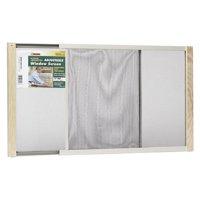 "Wood Frame Adjustable Window Screen, 15"" x 37"""