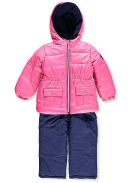 Product Image Foil Printed Polar Fleece Lined Jacket and Snowbib, 2-Piece Set (Little Girls Little Coats \u0026 Jackets - Walmart.com