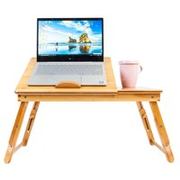 Ktaxon Portable  Breakfast Trays Laptop Desk Table Folding  Bed Serving Tray w/ Drawer