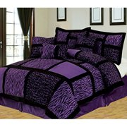 Empire Home Safari 5 Piece Purple Twin Size Comforter Set On