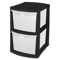 Sterilite, 2 Bin Storage System, Black, Case of 1