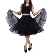 fc3dff9ddf Women's Petticoat Tutu Skirt Vintage Rockabilly Swing Dress Underskirt  (L-XL, Black)